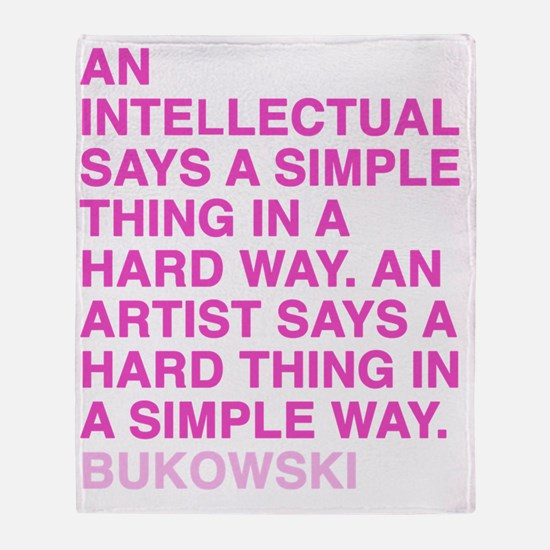 bukowski1_pink Throw Blanket