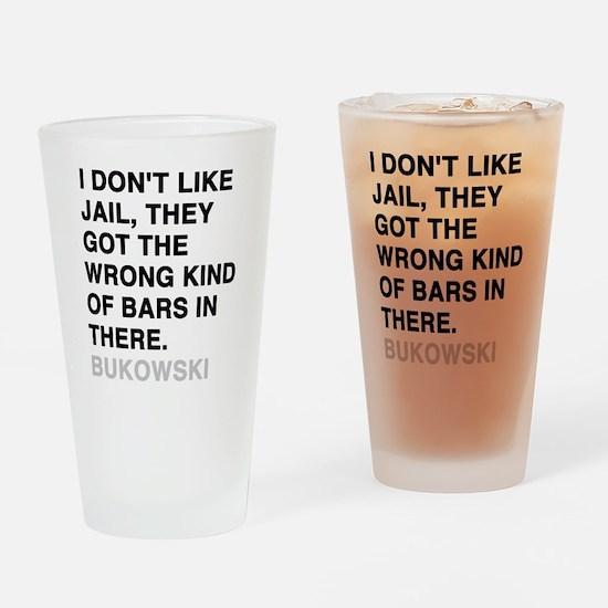 bukowski3 Drinking Glass