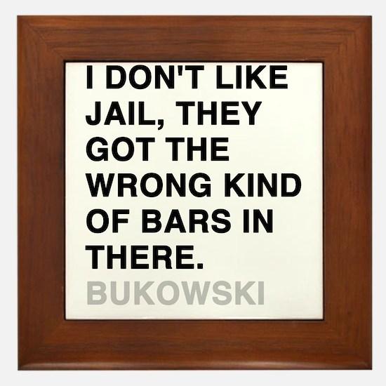 bukowski3 Framed Tile