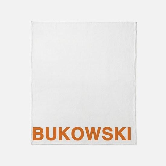 bukowski2_orange Throw Blanket