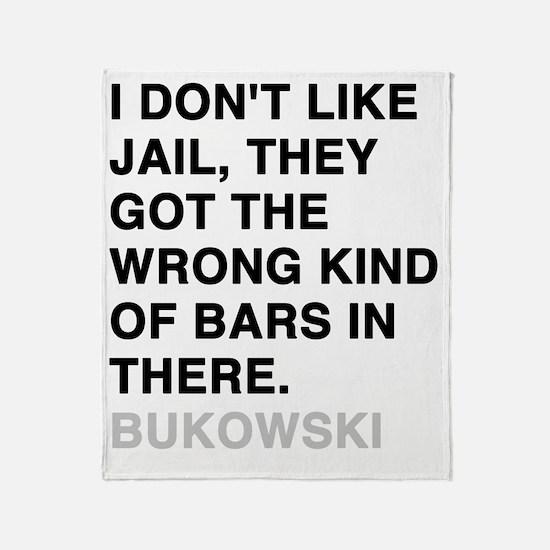 bukowski3 Throw Blanket