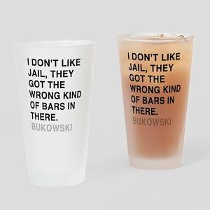 sticker_bukowski3 Drinking Glass