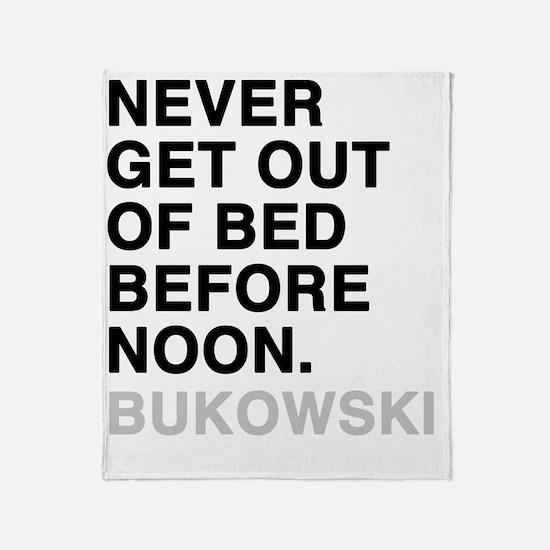 bukowski4 Throw Blanket