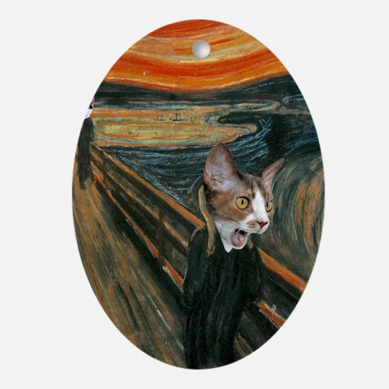 The Scream with Cats Keychain Oval Ornament