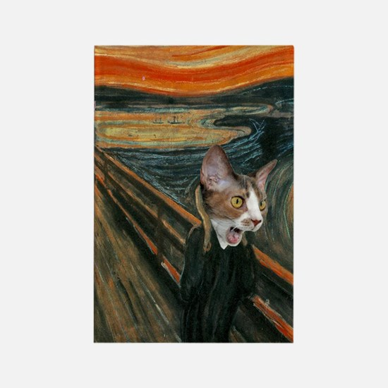 The Scream with Cats Keychain Rectangle Magnet