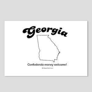 Georgia - confederate money welcome Postcards (Pac