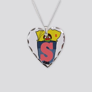S Necklace Heart Charm