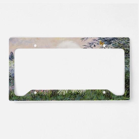 LIC-Seine-BichonFrise3 License Plate Holder
