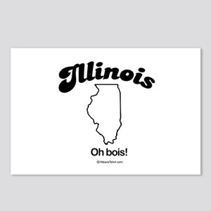 Illinois - Oh bois Postcards (Package of 8)
