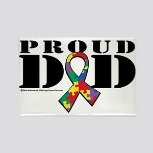 Autism-Proud-Dad Rectangle Magnet