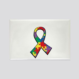 Autism-Proud-Dad-blk Rectangle Magnet