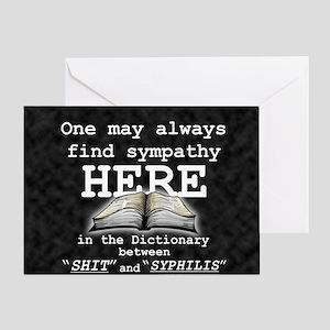 find sympathy sq bk wd Greeting Card