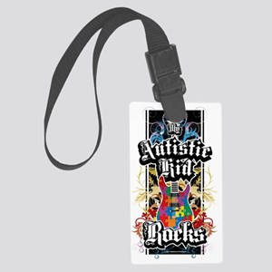 Autism-Rocks Large Luggage Tag