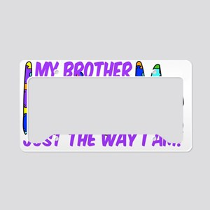 MyBrotherAutism License Plate Holder