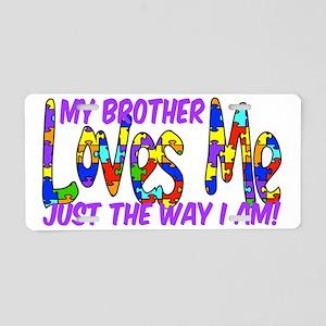 MyBrotherAutism Aluminum License Plate