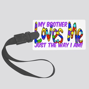 MyBrotherAutism Large Luggage Tag