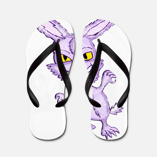 Evil Easter Bunny 2cc vintage Flip Flops