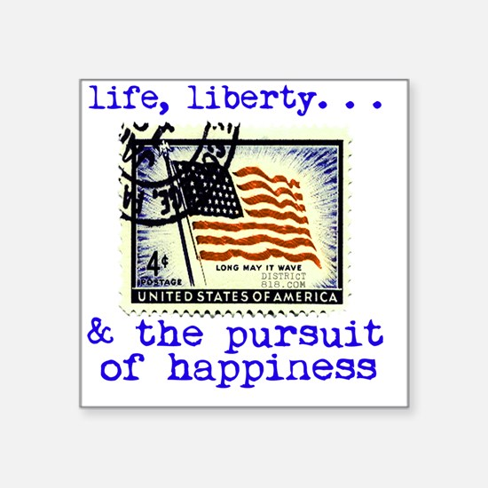 "life_liberty_and_the_pursui Square Sticker 3"" x 3"""