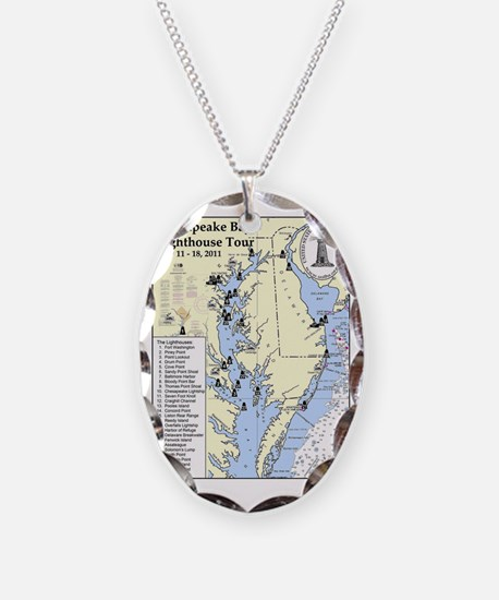 Chesapeake Map Necklace