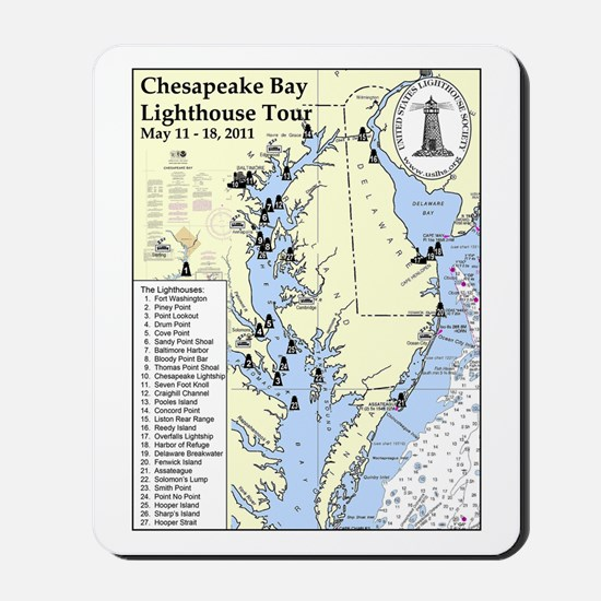 Chesapeake Map Mousepad