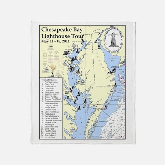 Chesapeake Map Throw Blanket
