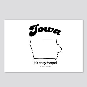 Iowa - easy to spell Postcards (Package of 8)