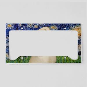 LIC-StarryNight-YellowLab7 License Plate Holder
