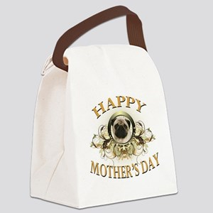Happy Mothers Day Pug Canvas Lunch Bag