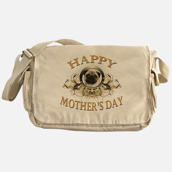 Happy Mothers Day Pug Messenger Bag