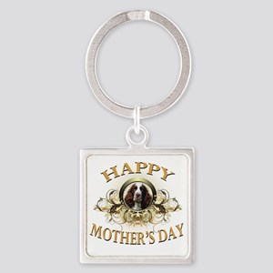 Happy Mothers Day Springer Spaniel Square Keychain