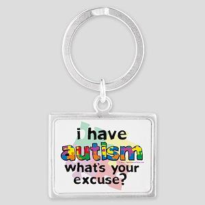 I-Have-Autism Landscape Keychain