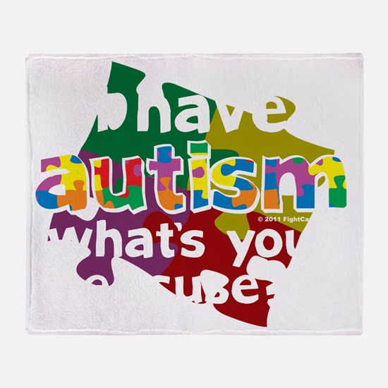 I-Have-Autism-blk Throw Blanket