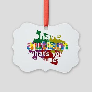 I-Have-Autism-blk Picture Ornament
