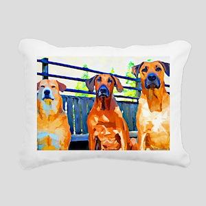The Gang paint w banner  Rectangular Canvas Pillow