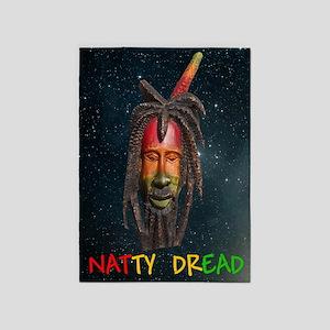NATTY_DREAD_Stars_Stadium Blanket 5'x7'Area Rug