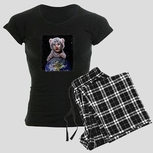 Tiger Cub on Earth Women's Dark Pajamas