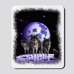 Wolf pack on Moon Mousepad