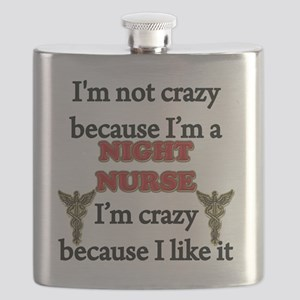 Im Not Crazy - NIGHT Nurse Flask