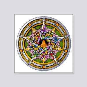 "Beltane Pentacle Square Sticker 3"" x 3"""