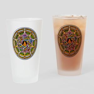 Beltane Pentacle Drinking Glass