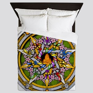 Beltane Pentacle Queen Duvet