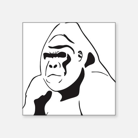 "gorillaJPG Square Sticker 3"" x 3"""