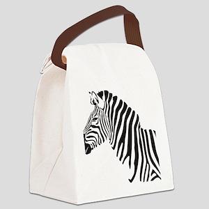 Zebra Canvas Lunch Bag