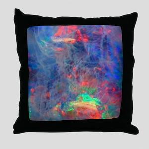 opal diamond stadium blanket Throw Pillow