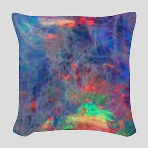opal diamond stadium blanket Woven Throw Pillow
