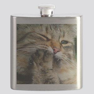 Tabby Cat Paw Flask