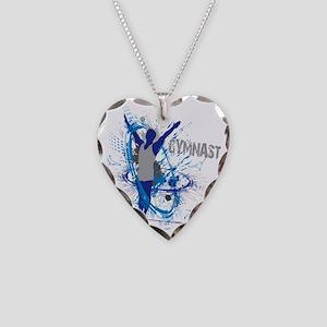 Male_Gymnast Necklace Heart Charm