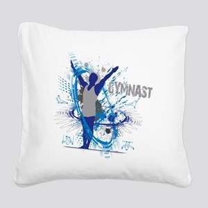 Male_Gymnast Square Canvas Pillow