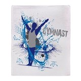 Boys gymnastics Fleece Blankets