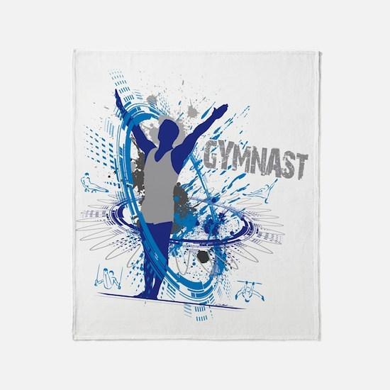 Male_Gymnast Throw Blanket